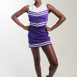 Purple and White Cheerleading Fit